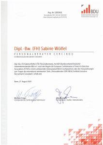 CERC Zertifikat